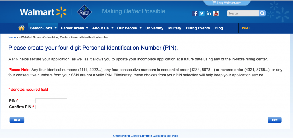 walmart-job-application-create-pin