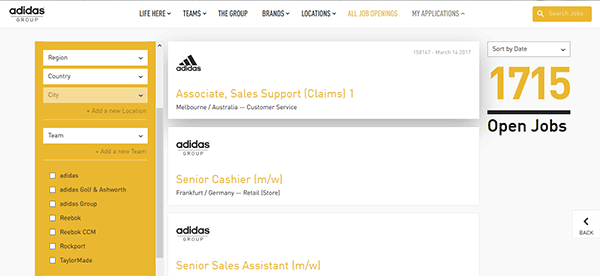 adidas online application