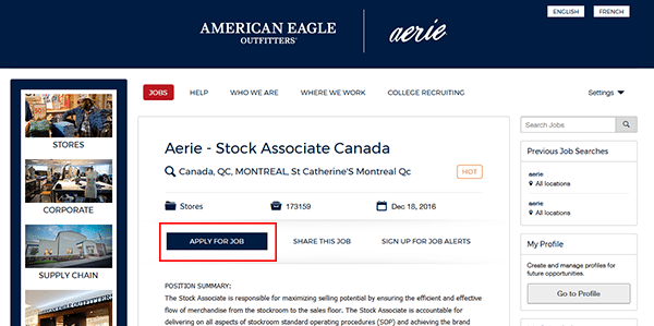 Aerie Job Application Apply Online