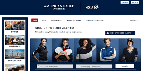 american eagle job application