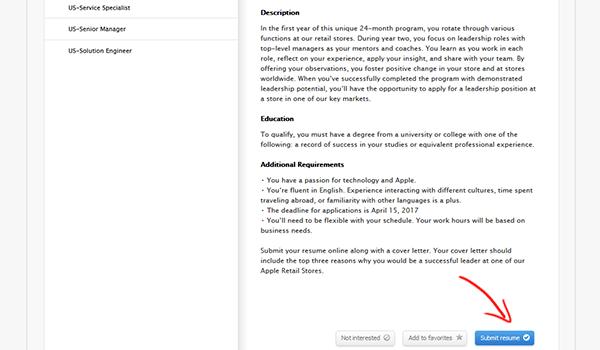 Resume For Apple Store. resume builder cv designer on the app store ...