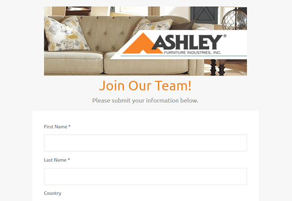Ashley Furniture Job Application Apply Online