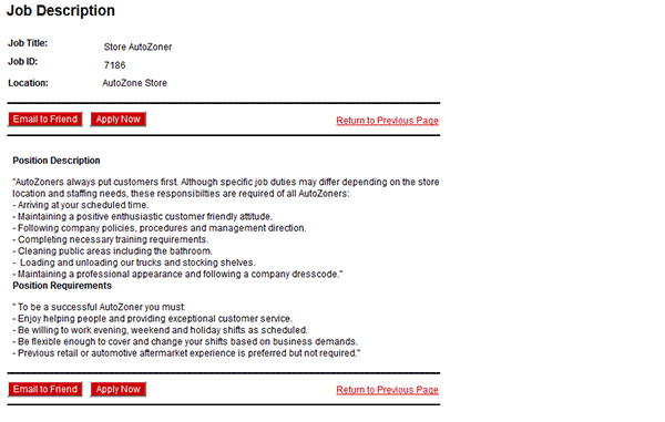 Autozone Job Application Apply Online