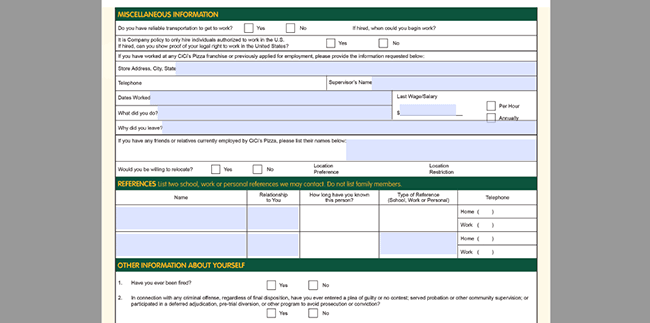 Cicis Job Application Adobe Pdf Apply Online