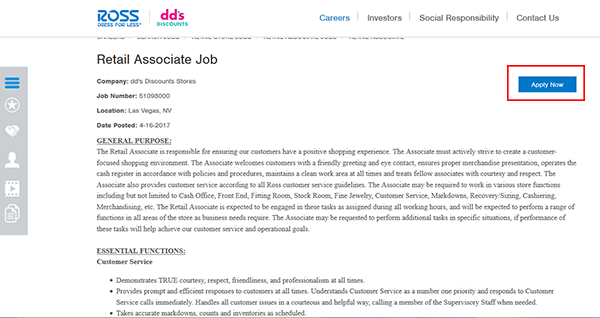 Dds Discounts Job Application Apply Online