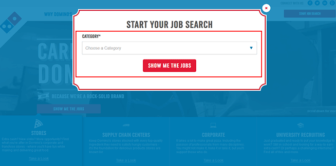 Dominos Job Application