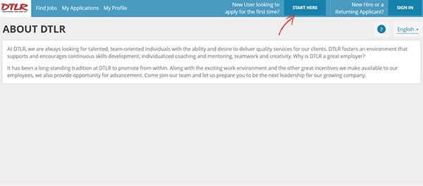 dtlr job application apply online