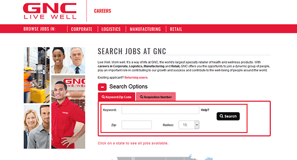 Gnc Job Application Apply Online
