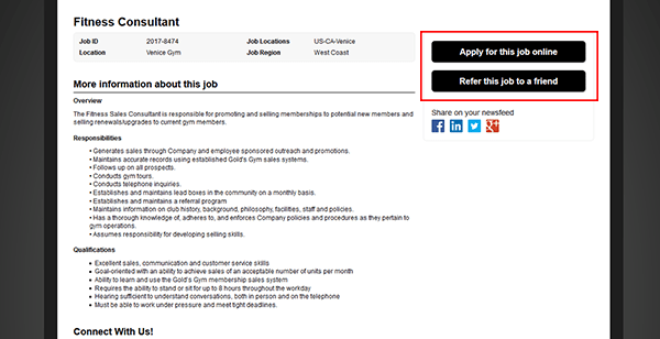 Resume Submit Button To Online Job Portal