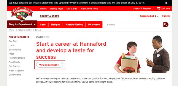 Hannaford Job Application Apply Online