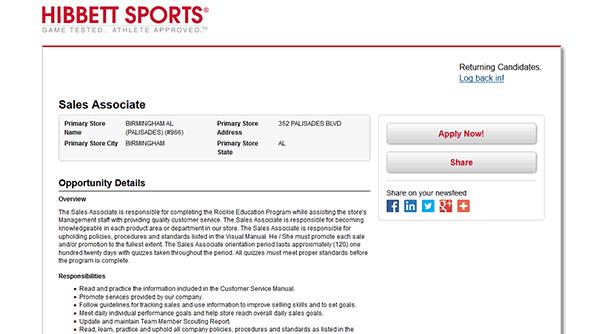 Hibbett Sports Job Application - Apply Online