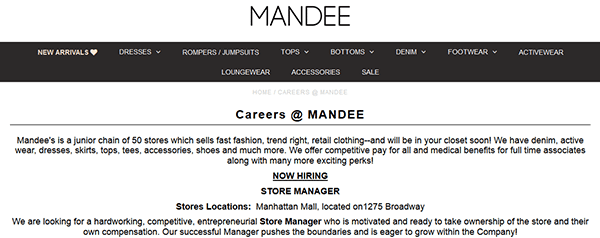 Mandee Job Application Apply Online