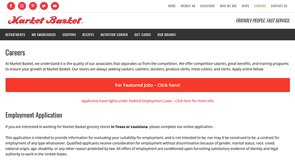 market basket job application apply online