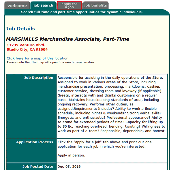 Marshalls Job Application Adobe Pdf Apply Online