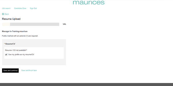 maurices job application