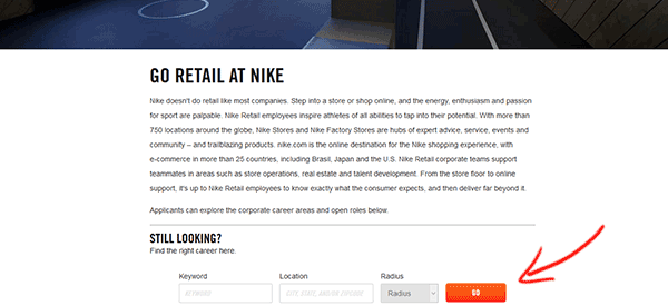 Nike jobs hiring Near Me. Browse Nike jobs and apply online. Search Nike to find your next Nike job Near Me.