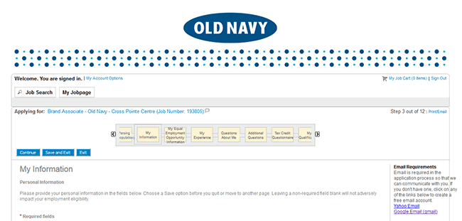 Old Navy Job Application Adobe Pdf Apply Online