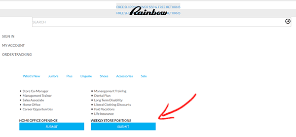 Apply for rainbow clothing store online