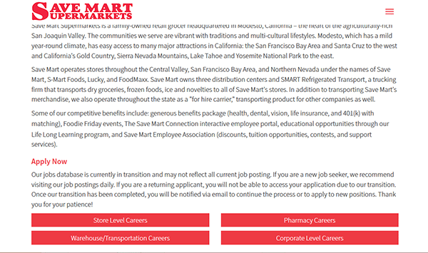 save mart job application apply online