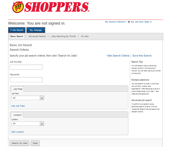 Job Application Online >> Shoppers Food Job Application Apply Online