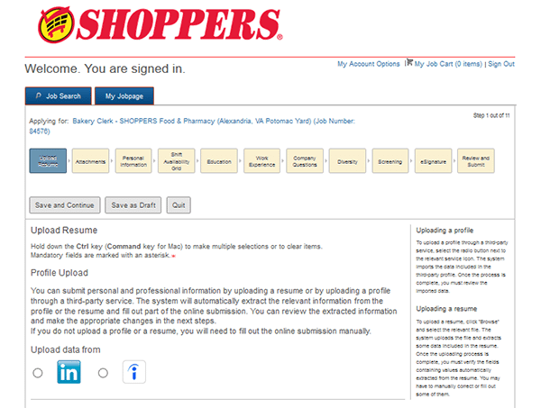 Shoppers Food Job Application Apply Online