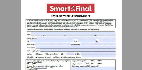 smart final job application adobe pdf apply online