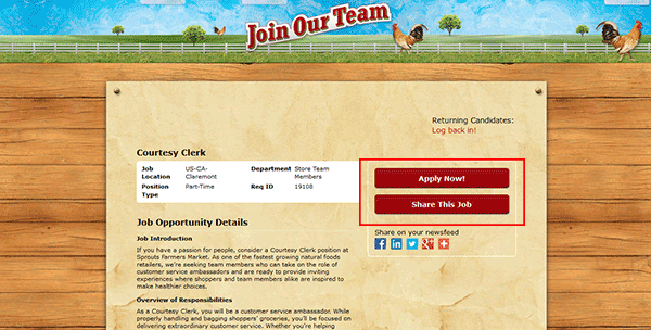 Sprouts Farmers Market Job Application - Apply Online