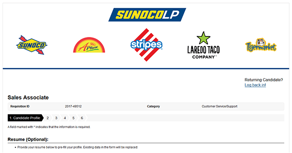 Sunoco Job Application Apply Online