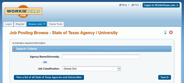 State Of Texas Job Application Apply Online