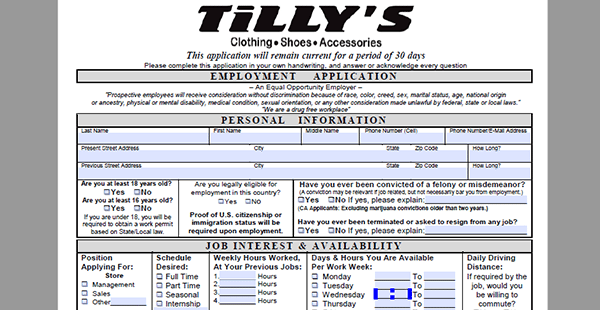 tillys-app Job Application Cover Letter By Email on for real or potential, template for senior, for practice management, for academic,