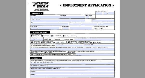 Tractor supply company job application adobe pdf apply - Dollar general careers express hiring ...