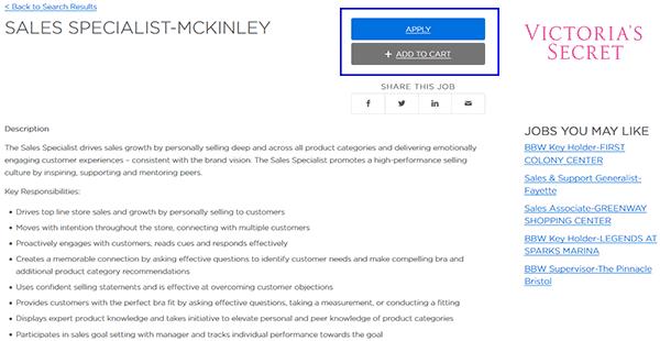 Victoria's Secret Job Application - Apply Online