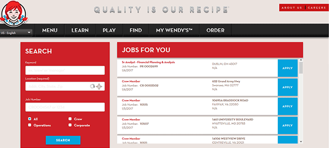 Wendys Job Application Adobe Pdf Apply Online